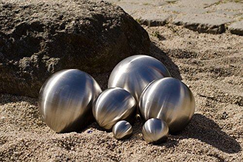 8er Set Köhko Dekokugeln Ø 12cm Ø 9cm Ø 6cm und Ø 4cm Edelstahlkugel Gartenkugeln Teichkugeln