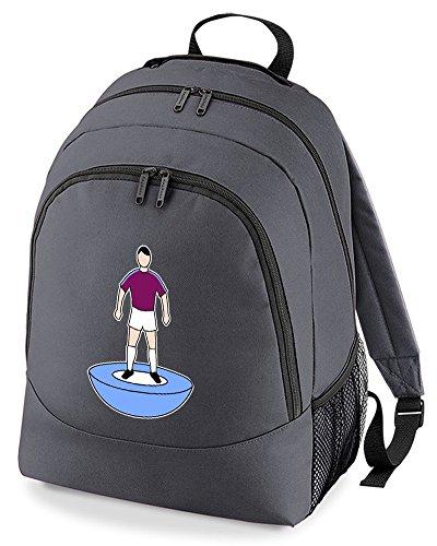 Charcoal Favourite Unisex Football Team Supporter Backpack Bag Colours Kit Rucksack vOzPv