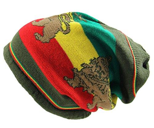 RW Rasta Lion Dread Knit Hats -