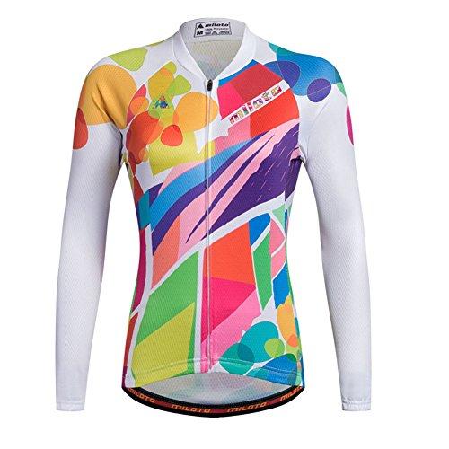 Xinzechen Women's Polyester Cycling Jersey Long Sleeve Fancy World Size M