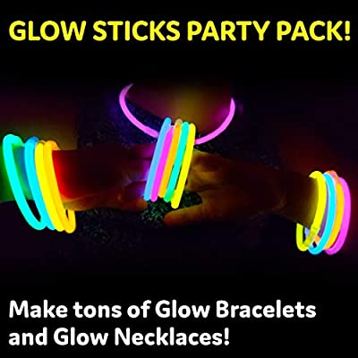 """Glow Sticks Bulk Party Favors 400pk - 8"""" Glow in the Dark Party Supplies, Light Sticks Neon Party Glow Necklaces and Bracelets for Kids or Adults: Toys & Games"""