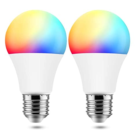 BrizLabs Smart Light Bulbs, 9W WiFi Bulbs No Hub Required, Warm White & Multicolor Dimmable LED Bulb, A19 60W eq, E26, 806LM, Compatible with Alexa & ...