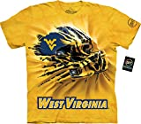 The Mountain Men's West Virginia U Wv Helmet Bt Yellow Adult T-Shirt, Gold, 2XL