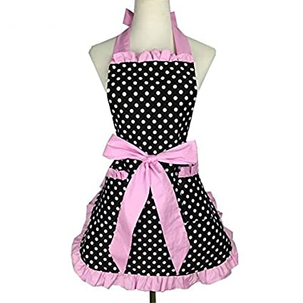 Amazon.com: VAlink Lovely Sweetheart Retro Kitchen Apron ...