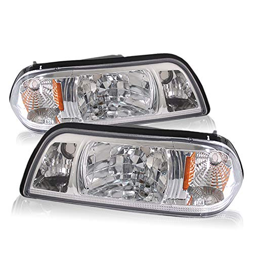 - For 87-93 Mustang 1 Piece Crystal Clear Lens Pair Headlights Headlamps Amber Corner Reflector