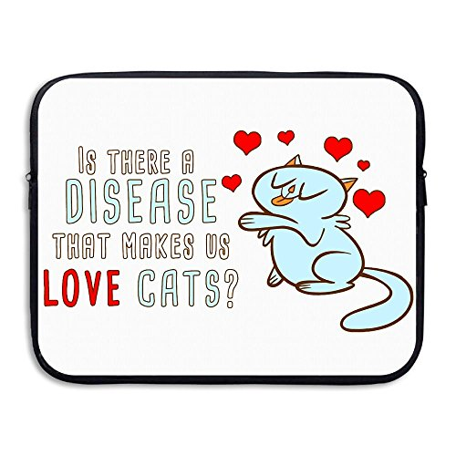 Reteone Laptop Sleeve Bag Why We Love Cats Cover Computer Liner Package Protective Case Waterproof Computer Portable Bags]()