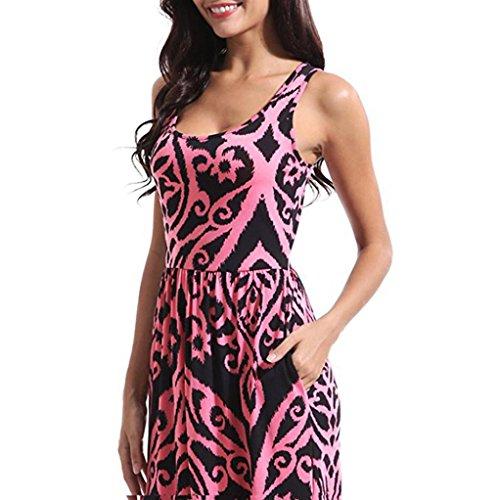 Mujer Bohemia 2018 playa Mujer vestido larga Verano XXL fiesta LMMVP floral Maxi Vestidos verano M cóctel B tqwfT4n