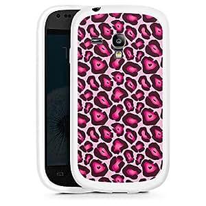 Silicona Carcasa blanco Funda para Samsung Galaxy S3 Mini - Pink Leo