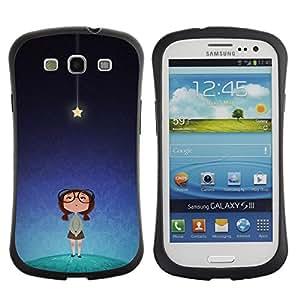 Suave TPU GEL Carcasa Funda Silicona Blando Estuche Caso de protección (para) Samsung Galaxy S3 I9300 / CECELL Phone case / / star cute smart girl kids night blue /