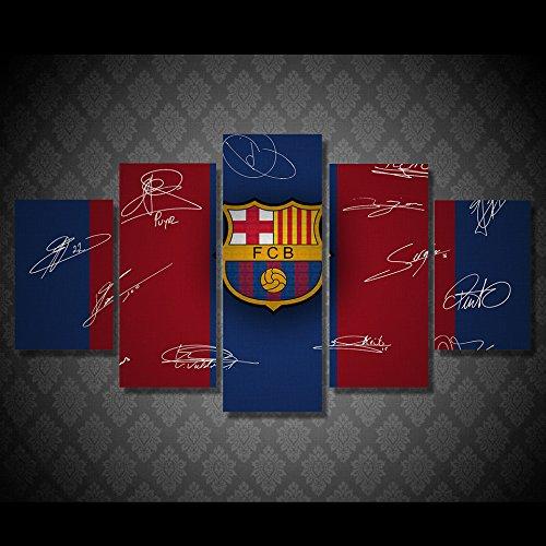 Barcelona soccer team print poster canvas decoration 5 pieces by john psarris