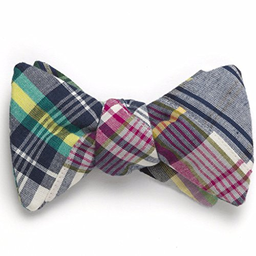 Patchwork Madras Bow Tie- Tod's Point