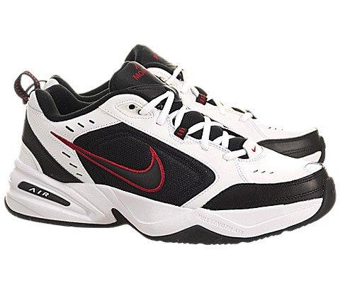 Nike Mens Air Monarch IV Running Shoe (7, White / Black / Varsity Red)