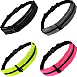 SKPower Running Belt Waist Packs - [2 Pockets] Runners Exercise Belt Reflective Waterproof Sport Hiking Walking for Men Women Workout iPhone 11 Pro XS Max Samsung Huawei Expandable Fit up to 7 inches