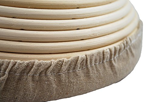 Adore Amore - 10 inch Round Banneton Bread Proofing Basket Removable Linen Cloth Liner Instructions and Recipe Included Natural Eco-Friendly Rattan Cane Brotform Large Bowl Artisan Bake Proving by Adore Amore (Image #4)