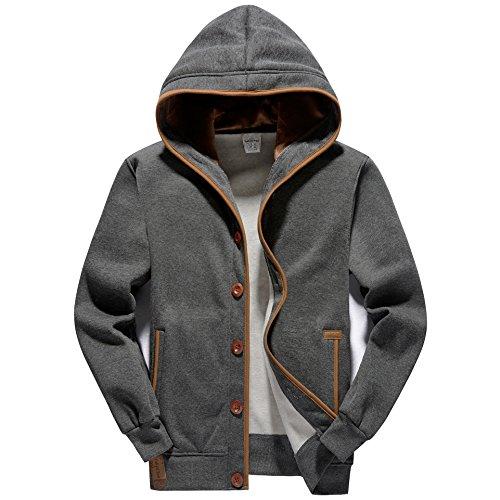 Mens Hooded Fleece Sweatshirt - 9