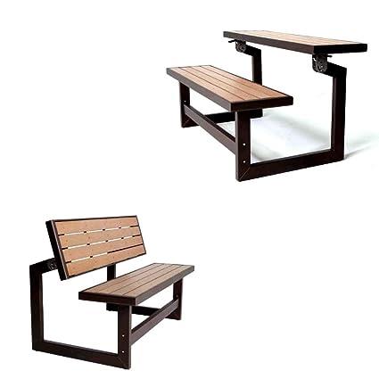 Prime Amazon Com Converting Bench Brown Picnic Seat Table Two Creativecarmelina Interior Chair Design Creativecarmelinacom