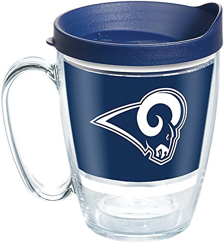 Tervis 1257370 NFL Los Angeles Rams Legend Tumbler with Wrap and Navy Lid 16oz Mug, Clear ()