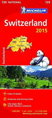 book cover - Switzerland Map 2015 -