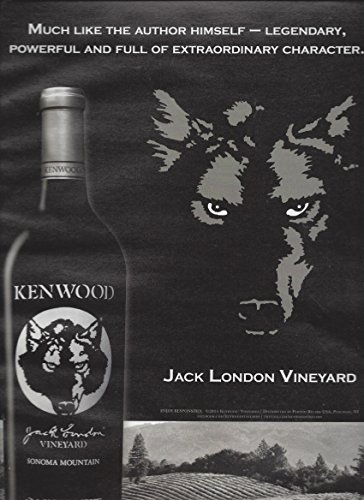 PRINT AD For 2015 Jack London Vineyard Kenwood Cabernet WinePRINT (Jack London Cabernet)