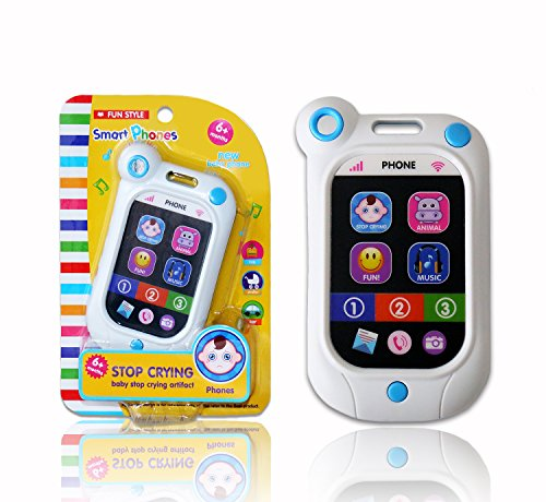 A-forest Baby Phone Toy Touch Swipe Screen Learning with 7 P