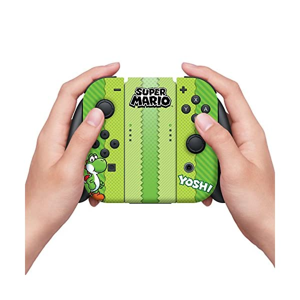 "Controller Gear Nintendo Switch Skin & Screen Protector Set, Officially Licensed By Nintendo - Super Mario Evergreen ""Yoshi Eggs"" - Nintendo Switch 3"