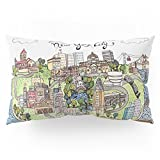 Society6 New York City Love Pillow Sham King (20'' x 36'') Set of 2