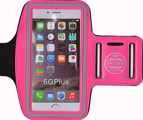 HESGI SPORTY Armband + Key Holder for iPhone 6 Plus 5.5 Inch And 1 Free Clear Screen Protector Front Rosen