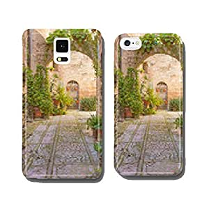Street with stone arch decorated with plants (Spello) cell phone cover case iPhone6