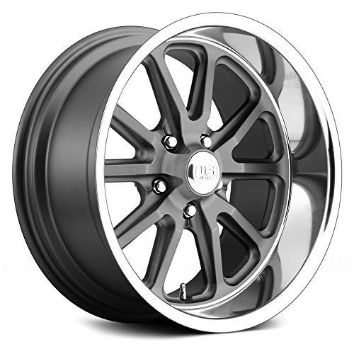 """U.S. Mags U111 Сustom Wheel - Rambler Series Gunmetal with Diamond Lip 20"""" x 9.5"""", 1 Offset, 5x120.65 Bolt Pattern, 72.6mm Hub"""