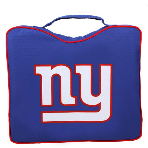 NFL Lightweight Stadium Bleacher Seat Cushion with Carrying Strap, New York Giants