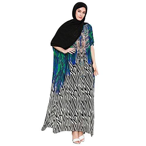 Hougood Women Summer Dresses Abaya Maxi Dress Muslim Islamic Arab Dubai...