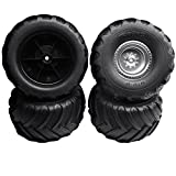 Traxxas Monster Jam FRONT & REAR TERRA GROOVE TIRES & 12mm SATIN WHEELS Dual