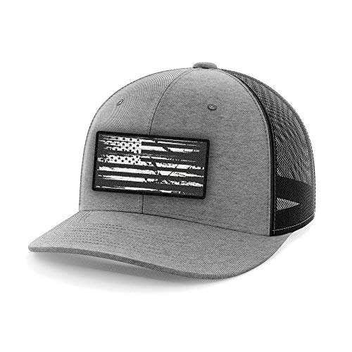 Tactical Pro Supply American Flag Heather Gray Flexfit Hat (L/XL) -