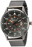 August Steiner AS8223GN Men's Quartz Metal and Stainless Steel Automatic Watch, Grey