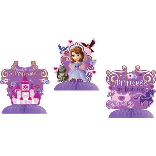 Sofia the First Tabletop Decorations Birthday Party Costume Supplies 3 per (Sofia The First Centerpieces)