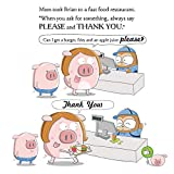 Pig In Jeans Learns Manners