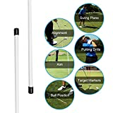 Yosooo Golf Alignment Stick, 1 Pair Practice Exercice Rods Training Aid Golf Indicator Alignment Sticks (White)