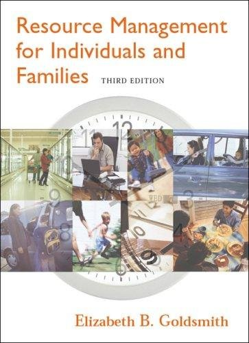 Read Online Resource Management For Individuals And Families With Infotrac ebook