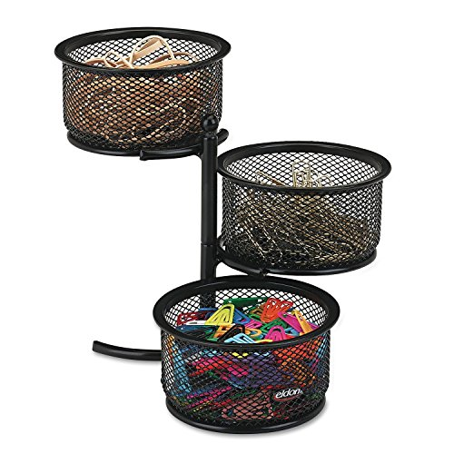 - Rolodex Mesh Collection 3-Tier Swivel Tower Sorter, Black (62533) (2, Each)