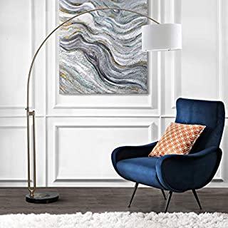 "Safavieh LIT4349A Lighting Collection Polaris Arc Floor Lamp, 84"", Antique Brass"