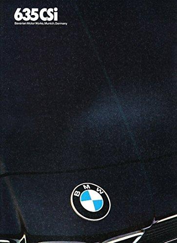 1986 BMW 6-Series 635CSi 32-page Original Car Sales Brochure Catalog (Sales Brochure Bmw)