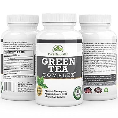 Best Green Tea Extract Supplement - Green Tea Complex - Weight Loss & Fat Burner 500mg Pills - EGCG Antioxidants for Men & Women