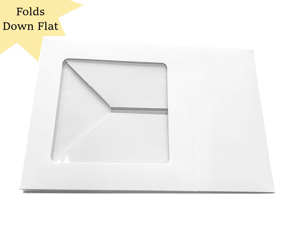 20 Count Sturdy White Cake Boxes 10x10x5 Inch with Window in Bulk by Sabba Products (Image #4)