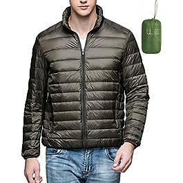 Men's Packable Down Coat Ultra Light Warm Stand Collar Puffer Jacket