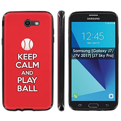 (Samsung [Galaxy J7/J7V 2017] [J7 Sky Pro] Soft Mold [Mobiflare] [Black] Thin Gel Protect Cover - [Play Ball - Cincinnati] for Galaxy J7 [2017] [5.5