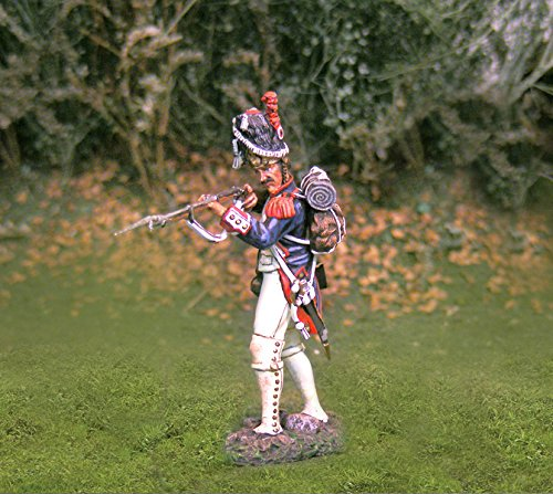 Napoleonic Toy Soldiers French Infantry Old Guard Firing Collectors Showcase Toy Soldiers Painted Metal Figure CS00702 Britains King Country Type