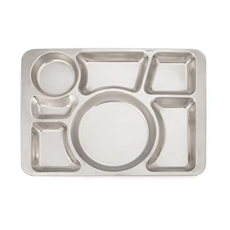 Aspire Divided Dinner Tray / Lunch Container Metal Plate 1 Pc - 7 Sections  sc 1 st  Amazon.com & Amazon.com | Aspire Divided Dinner Tray / Lunch Container Metal ...