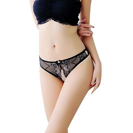 Lencería Sexy, YanHoo Mujeres Tangas G Strings Bragas Sexy Ropa Interior Encaje Erótico Transparente Bragas