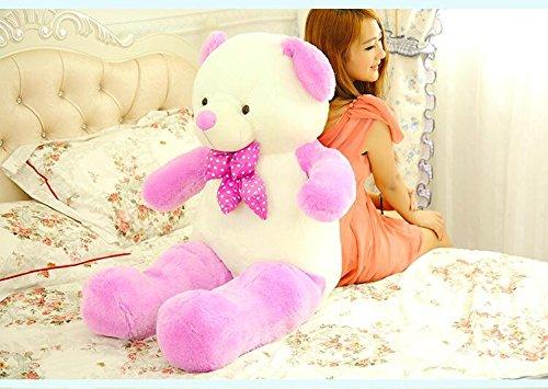 Stuffed Animal Teddy Bear Plush Soft Toy 160CM Huge Soft Toy Purple - 9