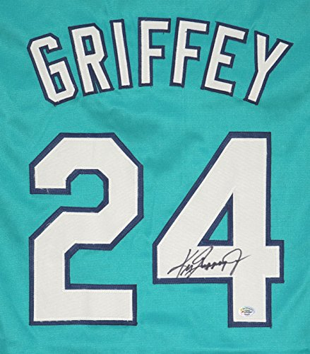 Ken Griffey Jr. Seattle Mariners Signed Autographed Teal #24 Jersey (Seattle Mariners Autograph)